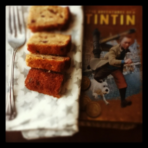 Banana Nutella cake with Tintin